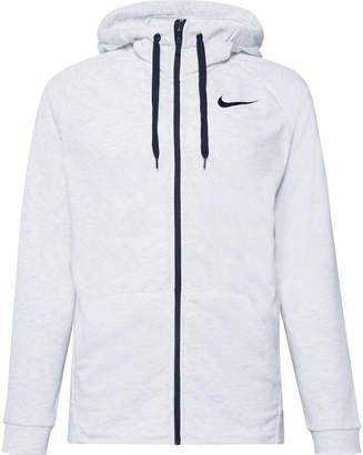 Melange Home Nike Training Loopback Dri-FIT Zip-Up Hoodie - Men - Gray