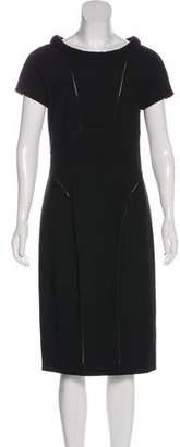 Plein Sud Jeans Mesh-Paneled Midi Dress