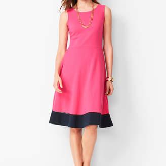 Talbots Edie Fit & Flare Dress - Colorblock