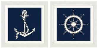 Pottery Barn Graphic Nautical Icons Print
