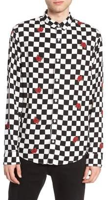 The Rail Checkerboard Rose Print Woven Shirt