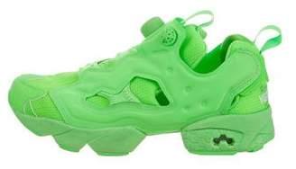 Vetements x Reebok Instapump Low-Top Sneakers
