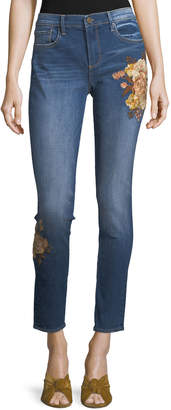 Driftwood Jackie Embroidered Ankle Jeans