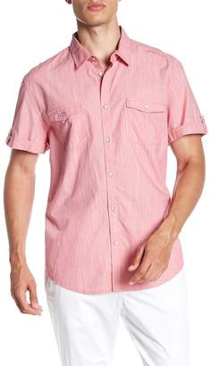 Calvin Klein Solid Slub Short Sleeve Shirt