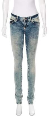 Philipp Plein Low-Rise Skinny Jeans