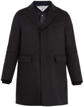 Moncler Gamme Bleu Double Layered Wool Overcoat - Mens - Black