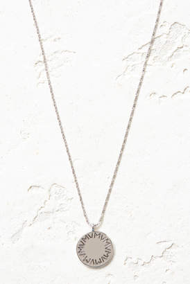 Vanessa Mooney Silver The Royals Large VM Logo Pendant Necklace