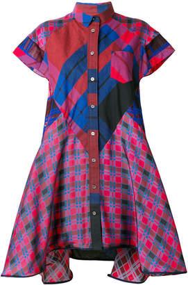Sacai flared shirt dress