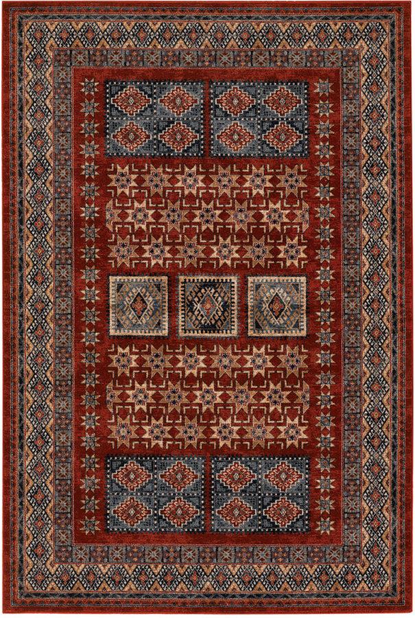 "Couristan Area Rug, Timeless Treasures Royal Kazak Burgundy 9'10"" x 13'2"""