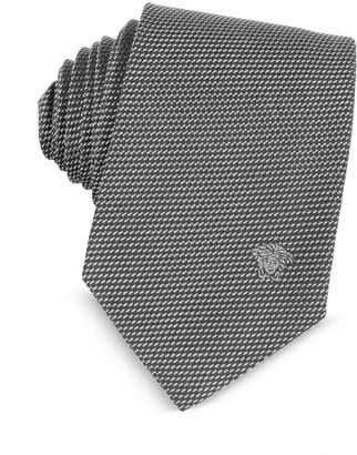Versace Woven Silk Narrow Tie w/Medusa