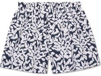 Sunspel Oak Leaf Printed Cotton Boxer Shorts