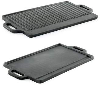 Prosource ProSource Professional Heavy Duty Reversible Double Burner Cast Iron Grill Griddle