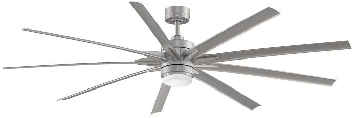 Odyn Indoor/Outdoor Ceiling Fan, Brushed Nickel with Brushed Nickel Blades