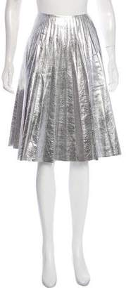 Gucci Metallic Leather Skirt