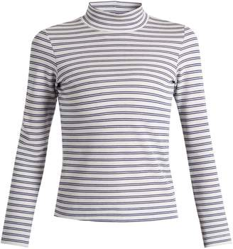 Golden Goose Iman striped cotton-blend jersey T-shirt