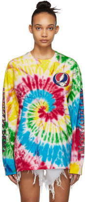 R 13 Multicolor Grateful Dead Long Sleeve T-Shirt
