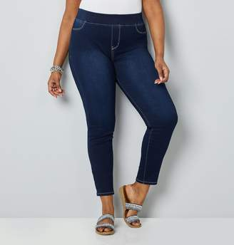 1daffa7dddf1a Avenue Plus Size Butter Denim Dark Wash Ankle Jean