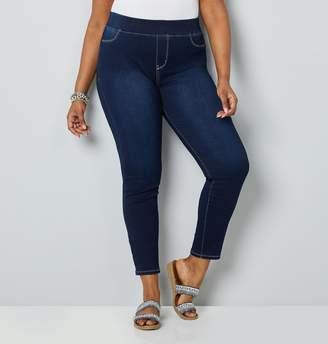 Avenue Plus Size Butter Denim Dark Wash Ankle Jean