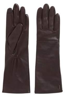 BOSS Long lambskin gloves with touchscreen-friendly tips