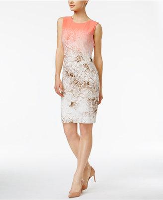Calvin Klein Pleated Sheath Dress $109.50 thestylecure.com