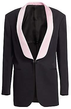 Calvin Klein Women's Oversize Wool Tuxedo Jacket