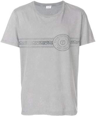 Saint Laurent logo patch T-shirt