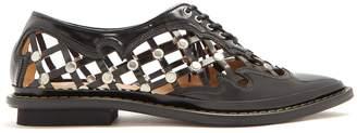 Toga Pointed-toe stud-embellished cage shoes
