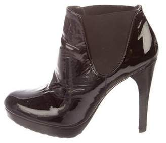 Stuart Weitzman Whoop Patent Leather Ankle Boots