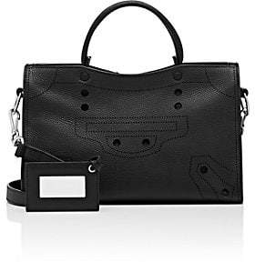 Balenciaga Women's Blackout City Small Leather Bag - Black
