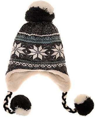 dbd96f7f880 Dosoni Women Girl Winter Hats Knit Soft Warm Earflap Hood Cozy Large  Snowflake Beani