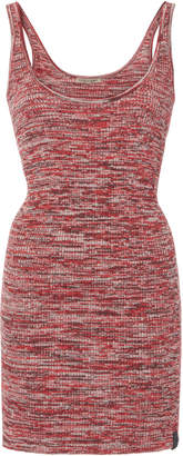 Bottega Veneta Marled Rib-Knit Cotton Tank
