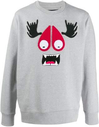 Moose Knuckles cartoon print sweatshirt