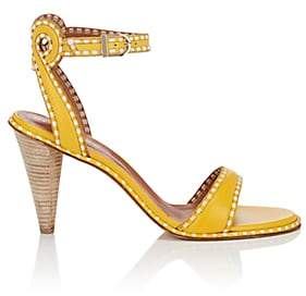 Derek Lam Women's Aden Leather Ankle-Strap Sandals-Yellow