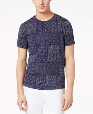 Armani Exchange Men's Shashiko-Print T-Shirt