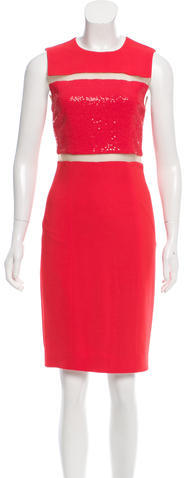 MICHAEL Michael KorsMichael Kors Collection Mesh-Accented Sequined Dress