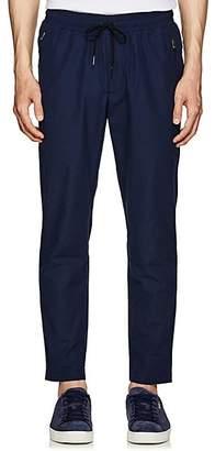 Leon AIMÉ DORE Men's Peach Skin Cotton-Blend Pants - Navy