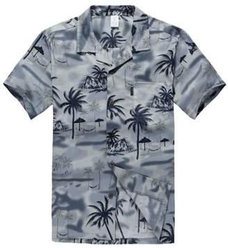 Hawaii Hangover Hawaiian Shirt Aloha Shirt in Gray Sunset Scenic