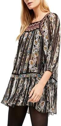 Free People Dance Magic Embroidered Tunic Dress