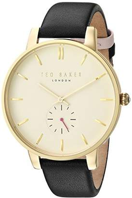 Ted Baker Women's 'OLIVIA' Quartz Stainless Steel and Leather Dress Watch
