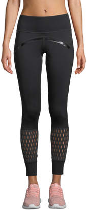 adidas by Stella McCartney Believe This High-Rise Mesh Training Tights