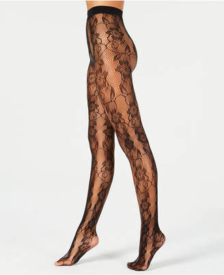 Hanes Fishnet Floral Lace Fashion Tights