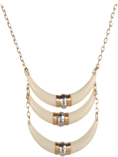 Jessica Simpson Desert Rose Two Tone 18 Necklace (Bone White/Rose Gold/Light Rhodium) - Jewelry