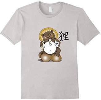 Tanuki Bake-danuki Japanese Raccoon Dog Lucky Sack Shirt