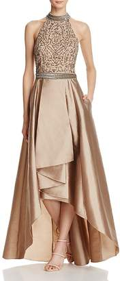 Adrianna Papell Beaded T-Back Gown $289 thestylecure.com