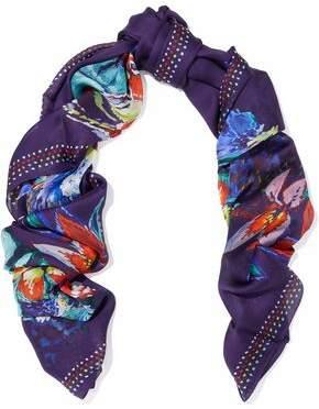 Roberto Cavalli Unica Printed Silk-Chiffon Scarf