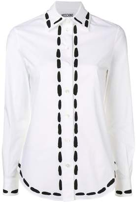 Moschino stitchings print shirt