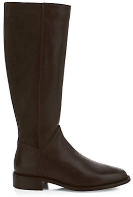 Aquatalia Women's Nia Knee-High Stretch-Suede & Leather Boots