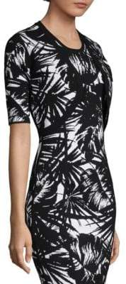 Michael Kors Palm Leaf-Print Shrug