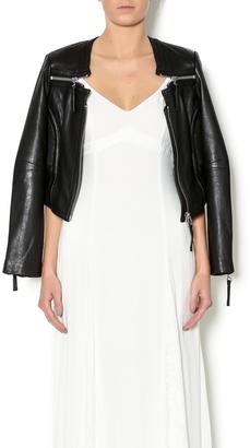 Linea Pelle Triple Zip Jacket $525 thestylecure.com