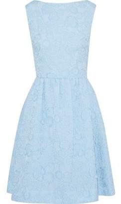 Erdem Flared Floral-Jacquard Dress